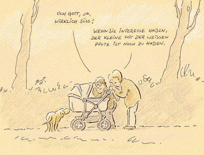 Hunde-Cartoon-Comic Welpen auf Schilderhund Hundeschilder