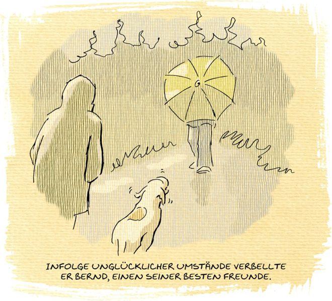 Hunde-Cartoon-Comic Spaziergang Outdoor Wetter Gassi gehen auf Schilderhund Hundeschilder